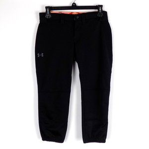 Women's Under Armour Softball Pants Black XS Zip